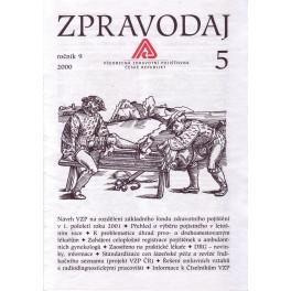 Zpravodaj VZP ČR 2000  ročník9/5