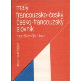 Malý francouzsko-český, česko-francouzský slovník, nejužívanější slova