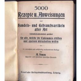 5000 Rezepte u. Anweisungen von handels und Gebrauchsartikeln aller Art