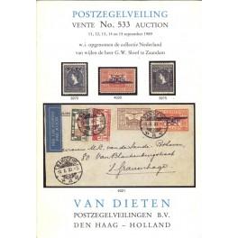 Van Dieten -Postzegelveiling vente No. 533 auction