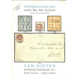 Van Dieten -Postzegelveiling vente No. 534 auction + fotobijlage