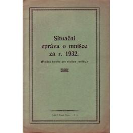 Situační zpráva o mnišce za rok 1932