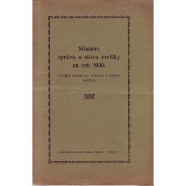 Situační zpráva o stavu mnišky za rok 1930