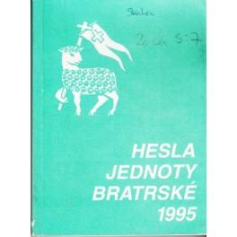Hesla jednoty bratrské na rok 1995
