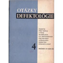 Otázky defektológie 4 - časopis pre teóriu a prax na školách a v zariadeniach pre mládež vyžadujúcu osobitnú starostlivosť