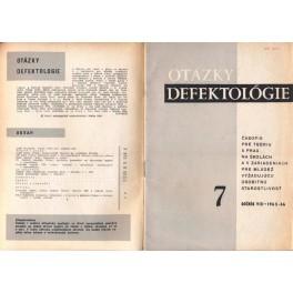 Otázky defektológie 7 - časopis pre teóriu a prax na školách a v zariadeniach pre mládež vyžadujúcu osobitnú starostlivosť
