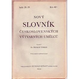 Nový slovník československých výtvarných umění sešit 28-29