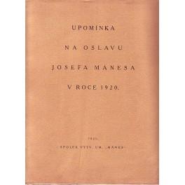 Upomínka na oslavu Josefa Mánesa v roce 1920