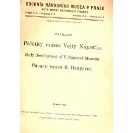 Počátky musea Vojty Náprstka