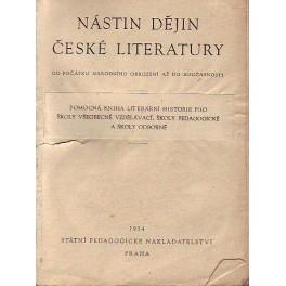 Nástin dějin české literatury od počátku národního obrození až do současnosti