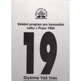 Volební program pro komunální volby v Praze 1994