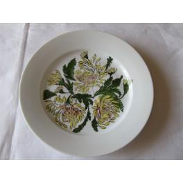 Bílý talíř mělký malovaný