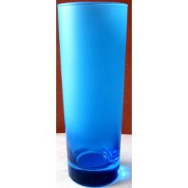 Sklenička z modrého matného skla