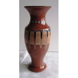 Váza hnědá glazovaná