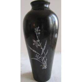 Váza černá vykládaná