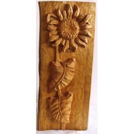 Dřevěná plastika - řezba slunečnice