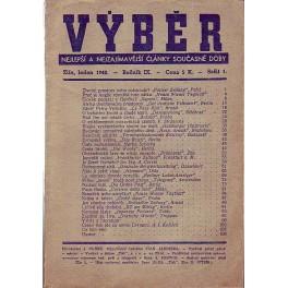 Časopis VÝBĚR 1, 1942 nejlepší a nejzajímavější články současné doby