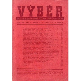 Časopis VÝBĚR 9, 1943 nejlepší a nejzajímavější články současné doby